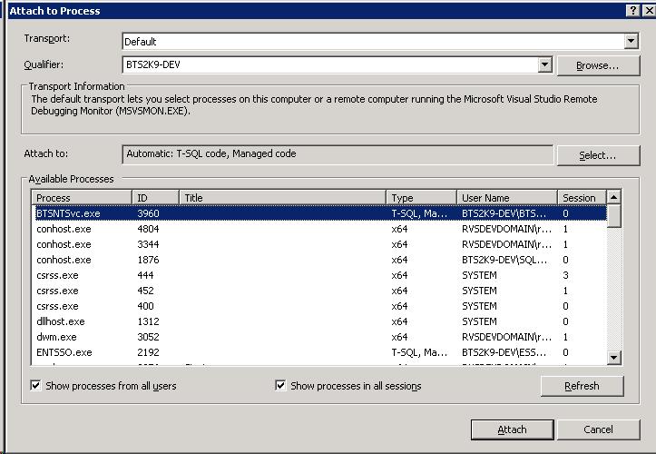 Retrieve the BTSNTSvc exe PID with PowerShell   BizTalk Messages