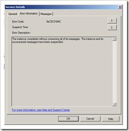 admin console error